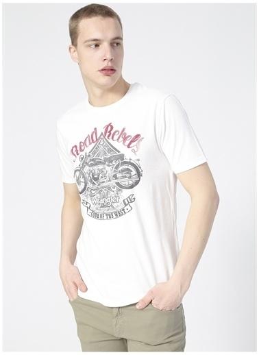 Wrangler Wrangler W7H2D3737_Grafik T-shirt  Beyaz